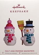 Hallmark Salt and Pepper Snowmen Gift of Appreciation 2018 VIP Ornament KOC - $15.54