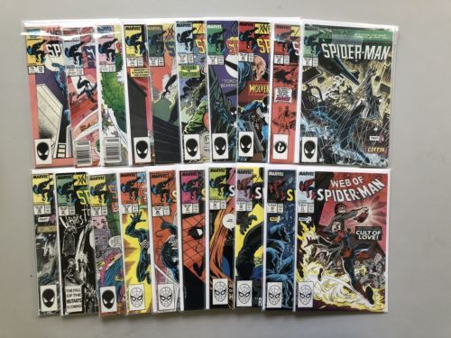 Lot of 20 Web of Spider-Man (1985 1st Series) #22-41 VF Very Fine