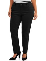 Terra And Sky Women's Plus Straight Leg Repreve Jeans Size 26W Black NEW - $29.69