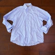 Joseph Abboud Mens Size 17 1/2 Light Blue Cotton Collar Pinstripe Dress ... - €6,92 EUR