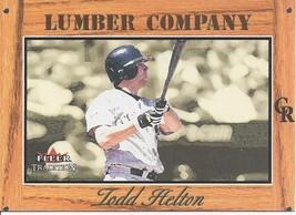 2003 Fleer Tradition Lumber Company Todd Helton 16 Rockies - $1.00