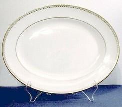 "Lenox Pearl Gold Oval Serving Platter Medium 13"" Classics Collection New - $79.90"