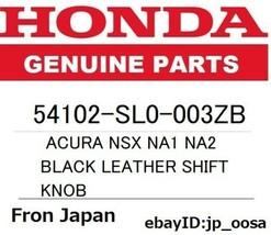 Honda Genuine Acura Nsx NA1 NA2 Black Leather Shift Knob - $183.89