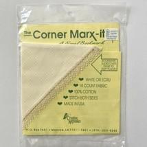 The Corner Marx-It Cross Stitch Bookmark 18 Count Fabric Ecru Stitch Bot... - $3.96