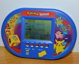 POKEMON YAHTZEE ELECTRONIC LCD VIDEO GAME 1999 NINTENDO PIKACHU - $10.41