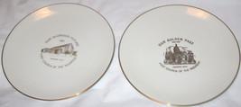 Set of 2 Flintridge China First Church of the Nazarene Plates Free Shipp... - $22.98