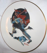 The Danbury Mint Norman Rockwell The Alarm Gorham Fine China Plate Sep 1981 - $18.29