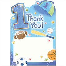 All Star 1st Birthday Thank You Cards 20 Per Package NEW - $4.90