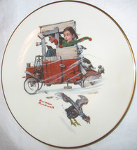 The Danbury Mint Norman Rockwell Soap Box Racer Gorham Fine China Plate Sep 1981 - $18.29