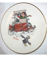 THE DANBURY MINT NORMAN ROCKWELL SOAP BOX RACER GORHAM FINE CHINA PLATE ... - $18.29