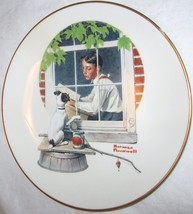 THE DANBURY MINT NORMAN ROCKWELL DAYDREAMING GORHAM FINE CHINA PLATE SEP... - $18.29