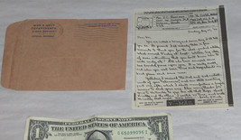 Military War Navy V-Mail Letter WW ll August 27 1944 Gentleman to His Sw... - $22.98