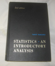 Statistics An Introductory Analysis by Taro Yamane 1967 Hardback free Ship USA - $13.69