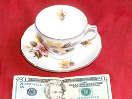 Royal Vale Bone China H 46 I Cup E 56 3 Saucer Ridgway Made In England Patt 8218 - $22.99