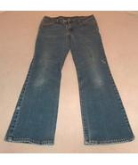 LEVI'S  517 Women Size 11 Jr Slim Fit Boot Cut Worn Faded Blue Denim Jea... - $22.99