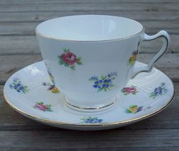 Crown Staffordshire Floral Tea Cup & Saucer Set Mint - $20.00