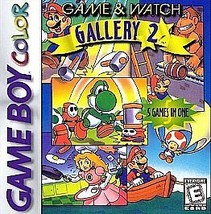 Game & Watch Gallery 2 Nintendo Game Boy Color, 1998 FREE SHIPPING U.S.A. - $8.63