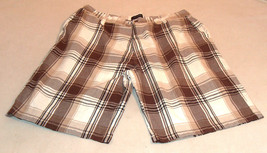 LA GATE Collection Mens Sz 42 Baggy Fit Zipper Fly Front Plaid Short 100... - $15.63