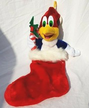 Plush Woody Woodpecker Christmas Stocking With Original Tags! Cartoon Ch... - $26.37