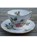 Royal Vale Cabbage Rose Tea Cup & Saucer Set Mint - $20.00