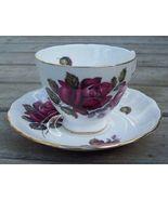 Royal Vale Red Rose Tea Cup & Saucer Set Mint - $20.00