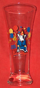 Primary image for VINTAGE 1987 SPUDS MACKENZIE BUD LIGHT TALL BEER GLASS VG VF FREE SHIPPING USA
