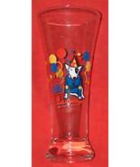 VINTAGE 1987 SPUDS MACKENZIE BUD LIGHT TALL BEER GLASS VG VF FREE SHIPPI... - $13.78