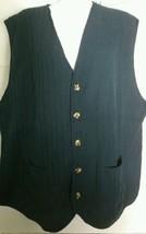 Vintage Eddie Bauer Vest Extra Large XL Navy Blue Button V-Neck Ribbed C... - $14.84