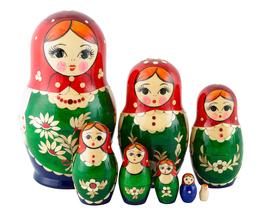 """Nolinsk Straw Inlay Nesting Doll - 6"""" w/ 8 Pieces - $60.00"""