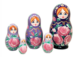 "Gradient Nesting Doll - 4"" w/ 5 Pieces - $24.75"