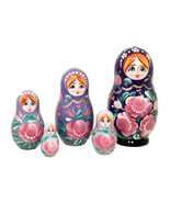 "Gradient Nesting Doll - 4"" w/ 5 Pieces - $24.75"