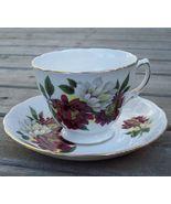 Royal Vale Dahlia Tea Cup & Saucer Set Mint - $20.00