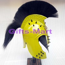 Achilles Troy Helmet Medieval Knight Crusader Spartan Iron Steel Armour Costume  - $119.00