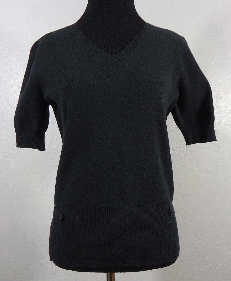 f716360f383 Ann Taylor LOFT Rib Knit V-Neck Shirt Black and 50 similar items. 57