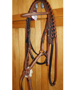 Bobby's FULL Sz Padded MonoCrown Lt Brown/Chestnut Fancy Stitch Fig 8 Br... - $179.95