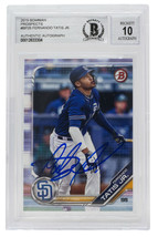 Fernando Tatis Jr. Signed 2019 Bowman Prospects Rookie #BP25 Card BGS Au... - $494.99