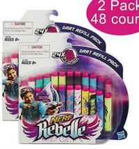Hasbro Nerf Rebelle Secrets & Spies Dart Refill 2PK 48ct for Blasters - $22.00