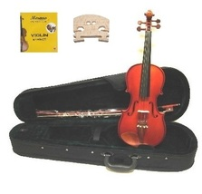 4/4 Size Boxwood Violin with Case and Bow+Free Rosin,Extra Set of Strings,Bridge - $43.99