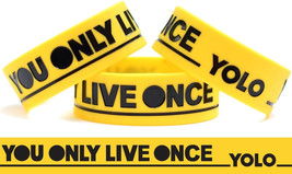 Y.O.L.O. Wristband Yellow You Only Live Once Bracelet The Strokes Inspired Band - $8.89