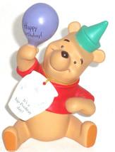 Disney Winnie Pooh Figurine Birthday It's a hip Poohray Day Hat Balloon - $59.95