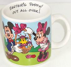Disney Easter Mickey Minnie Pluto Chicks Coffee Mug Cup Applause  - $39.95