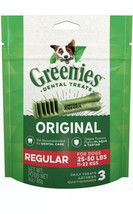 Greenies Original Dental Regular Treats for Dogs 25-50 Pounds 3 Count - $8.90