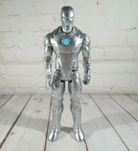 "2013 Rare Marvel Titan Hero Series Silver Iron Man 12"" Hasbro C-3252C - $19.75"