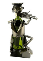 Inspired Violinist Fiddler Musician On the Roof Top Wine Bottle Holder C... - $27.83