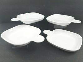 4 Corning Ware P-185-B Square Snack It Set Grab Sandwich Plates Tab Hand... - $49.37