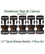 """Quick Release Buckle, for 1½"""" Inch Webbing, Acetal Plastic, 5 Pc. Set - $7.06"""