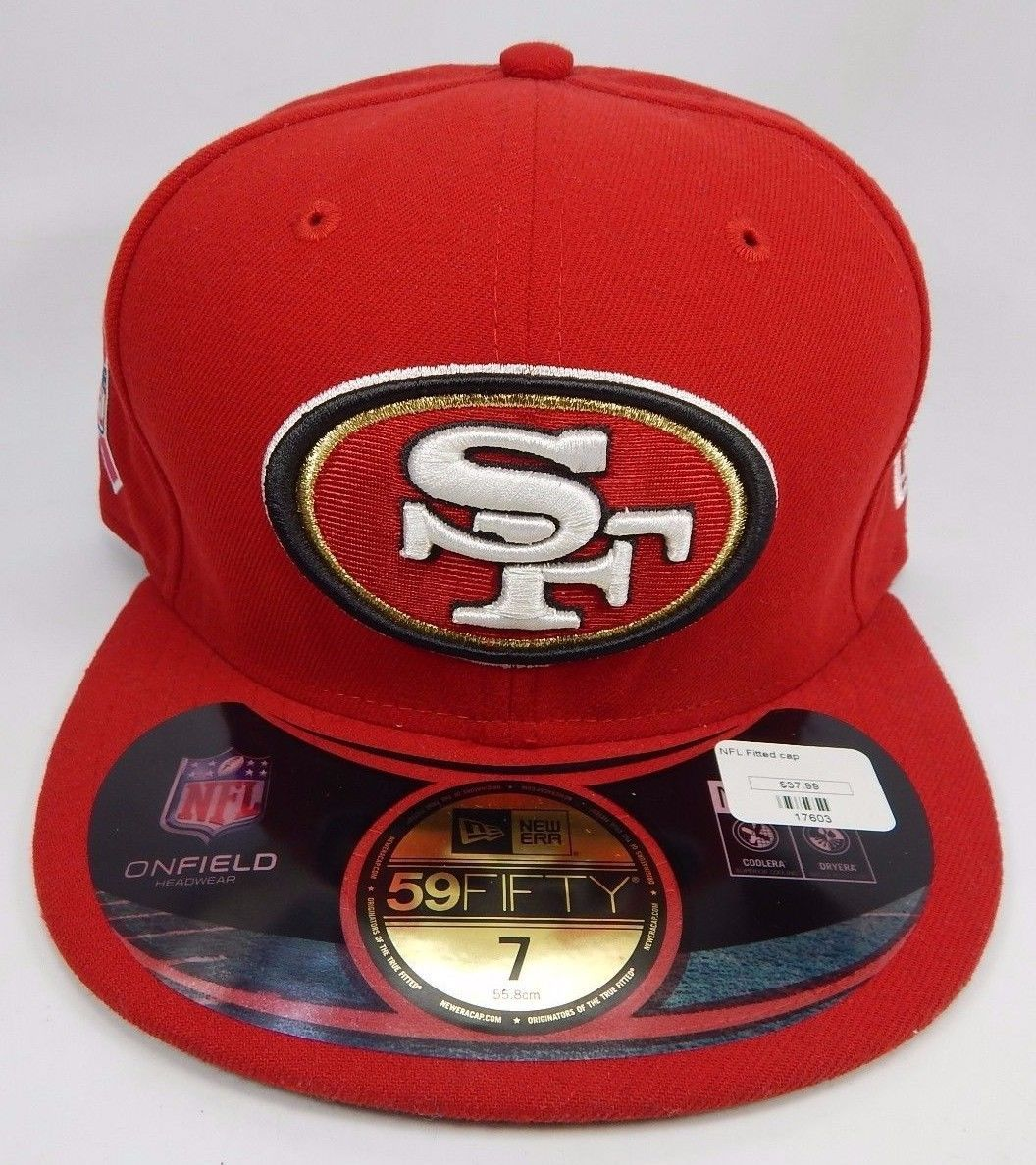 San Fransisco 49ers New Era Size 7 Breast Cancer Awarenes 59Fifty Fitted Cap Hat