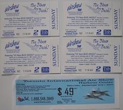 AIR SHOW 5 TICKET STUBS 1998 AIRSHOW '98 PENNSYLVANIA U.S. NAVY BLUE ANG... - $8.50