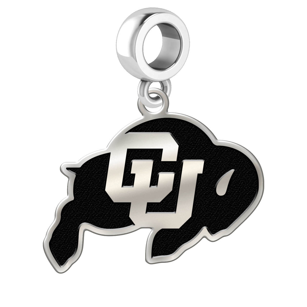 Colorado Buffaloes Silver College Bead Fits Bead Charm Style Bracelets