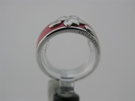 Ring Cacharel Pink with flowers or leaves(CLR366R), Sterling Silver 0,925 - £41.82 GBP